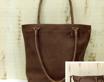 SALE!!! Everyday leather handbag crossbody Leather zippered  tote zippered crossbody bag distressed leather handmade bag