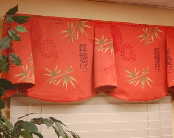 "Custom Window Treatment ANNA Hidden Rod Pocket® Valance fits 32""- 46"" window, Made to order using customer's fabrics, My LABOR and lining"