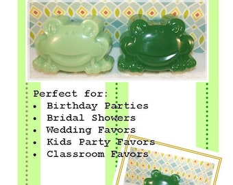 Large Frog Soap, 30 Frog Soaps, Glycerin Soap, Froggy Soap, Baby Shower Soap, Birthday Soap Favor
