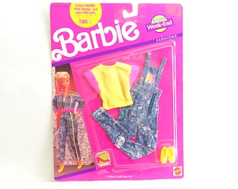 Vintage Barbie 1990s Fashions Week-End Jeans Set