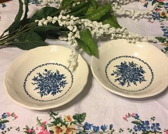 Mayhill Federalist Ironstone Bowls, Set of 2
