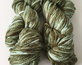 "Hand-Dyed Merino Wool-Bulky Weight ""Juniper"""