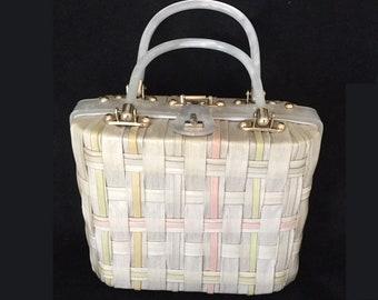 Princess Charming faux wicker handbag or purse by Atlas, Hollywood