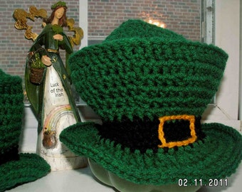 Irish top hats for St. Patrick's Day in four sizes infant through adult