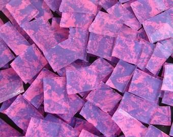 Mosaic Tile PINK n PURPLE PIZZAZ hp Handpainted Tiles