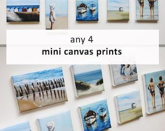 Any 4 mini canvas art prints