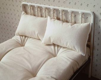 Double Doll Bed Mattress & Pillows for Blythe or Barbie