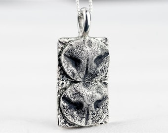 Cat Nose Necklace Personalized in Sterling Silver