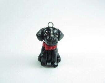 Black Labrador Necklace - dog jewelry, black lab,miniature animal dog, Labrador jewelry, Labrador pendant