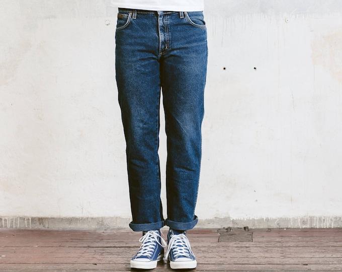 90s Wrangler Jeans . Wrangler Straight Leg Dark Blue 90s Jeans 90s Boyfriend Jeans 90s Denim Pants Menswear . W33