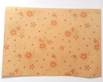 30 sheets 21x15cm Flowers Greaseproof Oil Wax Food Wrapping Paper