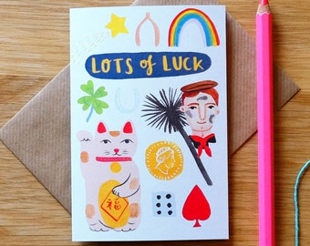 Lots of Luck Illustrated Card