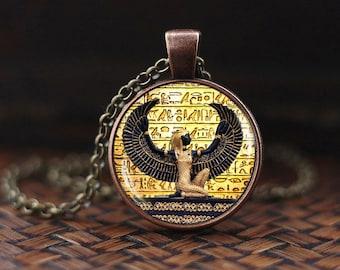 Egyptian pendant, ancient egypt jewelry, Egyptian goddess, Egypt necklace, Egyptian jewelry