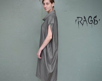 Loose Dress / Asymmetrical Dress / Extravagant Dress / Sleeveless Dress