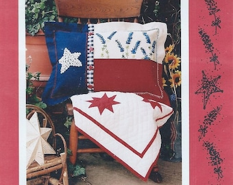 Texas Bluebonnets Pillow by Kay Whitt for Serendipity Gifts - Sewing Pattern