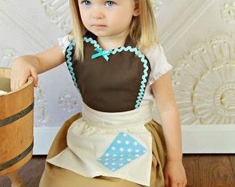 CINDERELLA Work Apron for kids cute girls dress up costume apron