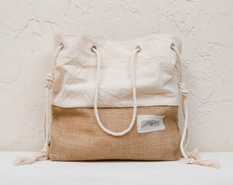 Jute Burlap Beach Bag The Sandbag Large Beach Tote