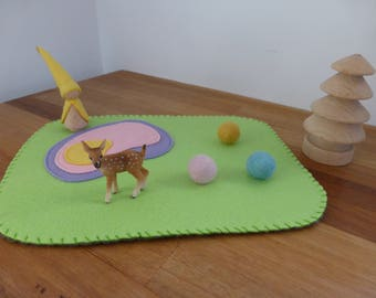 Small magical fairy playscape playmat