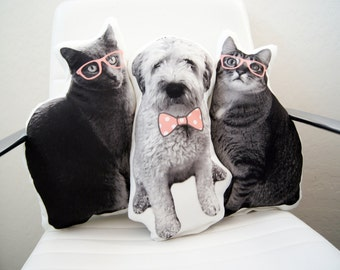 Personalized Dog Picture Pillow, Personalized Cat Picture Pillow, Custom Gift Pillows, Wedding Gift, Bridal Party Gift, Bridal Shower Gift