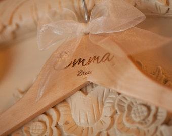 Wedding Dress Hanger personalised - Wooden Wedding Hanger UK Seller, custom bridal hanger, wedding party hanger, bridal party hanger, gift