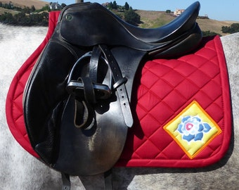 Be Bright! English Saddle Pad from The Floral Collection FA-62