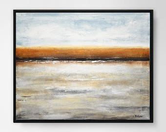 Original seascape painting contemporary wall decor oil painting abstract landscape wall art home decor design modern art accent piece