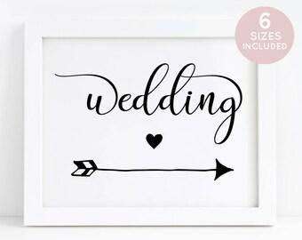 Arrow wedding signs | Etsy