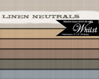 Linen digital paper fabric scrapbook photo album background texture art graphics in brown gold gray black : t101 Br v301