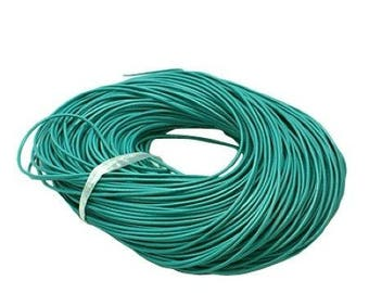 leather turquoise cord, 2 mm, 1 meter T10