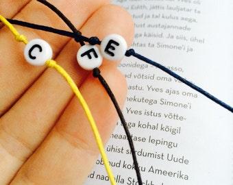 Personalized wish bracelet, String bracelet, Cotton cord wish bracelets, Friendship bracelets