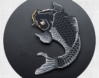 large patch large Carp embroidered patch iron on patches iron on patch sew on patchRN336