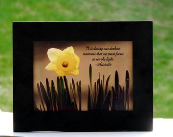 Daffodil Photo with Quote Daffodil Wall Art Photo Flower with Quote Print Flower Quote Photo Inspirational Print Flower Photography