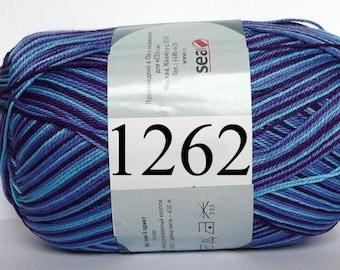 Crochet thread size 10, mercerized cotton, ANNA-S Print, 100g/ 492 yds #1262 variegated shaded