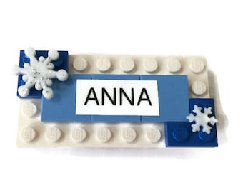 Frozen Anna LEGO Name Tag