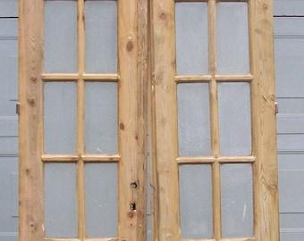 antique wood doors,curved glass panels,mediterranean salvage european doors, old pine doors,architectural,tall wood door,old heavy doors,#2