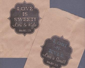 Candy Buffet Bag, Kraft Paper Bag, Custom Candy Bag, Cookie Bag, Candy Bag, Favor Bag, Treat Bag, Personalized, Chalkboard, Chalk Set of 250