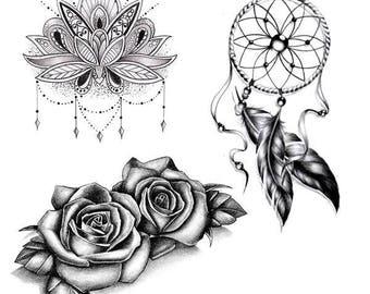 6 Temporary Tattoos