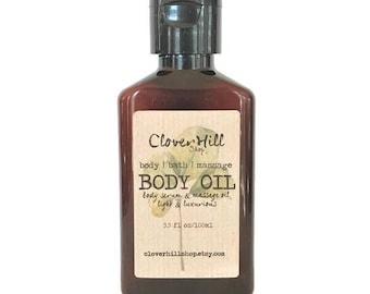 White Tea & Ginger Body Oil, Bath Oil, Massage Oil, Moisturizing | Hydrating Body Serum, Spa Luxury Skincare