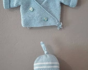 Set top booties and bonnet 0/3 months baby