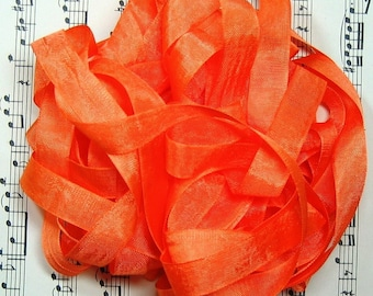 Orange Seam Binding Silky Rayon Seam Binding Ribbon - 9 yards PSS 0350