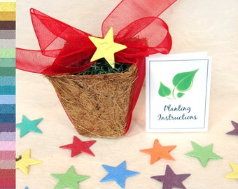 18 Plantable Pots - Kids Birthday Party Seed Favors - Unique and Personalized - Seed Paper Favors Kit