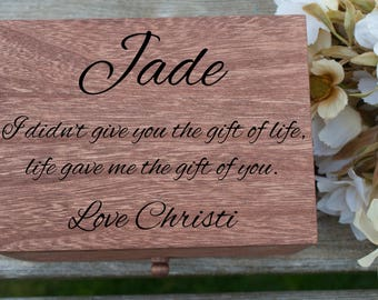 Blended Family Gift, Jewelry Box, Stepdaughter Gift, Step Daughter Gift, Stepdaughter Wedding Gift, Step Daughter Wedding Gift, Girl Gift