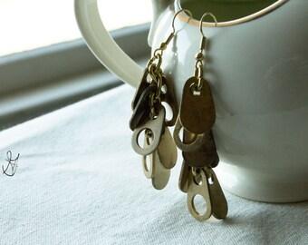 Dangling Earrings // Teardrop Tab Tassels