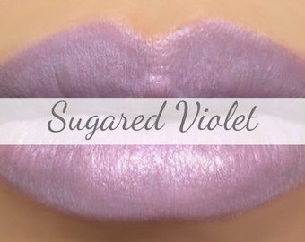 "Purple Lipstick Sample - ""Sugared Violet"" pastel violet mineral lipstick with natural ingredients"
