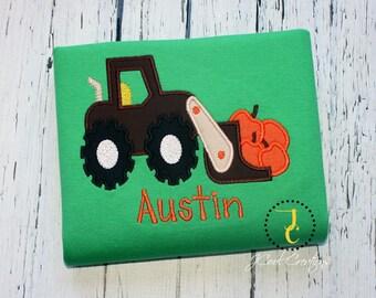Boys Halloween Shirt, Pumpkin Shirt, Thanksgiving Shirt, Custom Shirt, Pumpkin Truck, Tractor Shirt, Boys Halloween, Boys Thanksgiving Shirt