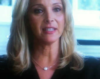 Worn by Lisa Kudrow on ABC's Scandal - Freshwater Pearl Necklace - Sterling Silver - Celerbrity Inspired - Elegant Necklace