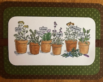 Gardener's Delight - Blank Greeting Card