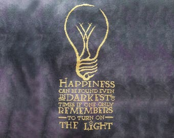 Harry Potter Cross Stitch PDF Chart - Happiness Can be Found Quote by Albus Dumbledore