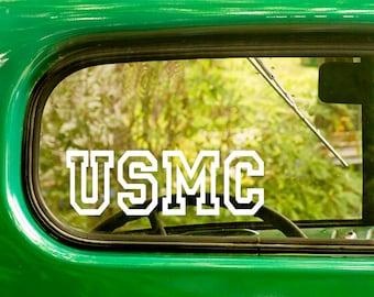 2 USMC Decals, United State Marine Corps, Marine Decal, US Military Decal, Marine Sticker, Car Decal, Laptop Sticker, Car Stickers