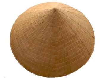 Fair Trade Authentic Vietnamese Conical Rice Farmers Hat / Non La Fancy Dress Ethnic Traditional Tribal  Oriental Headgear 1218
